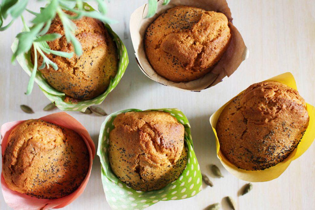 muffin con semi di papavero