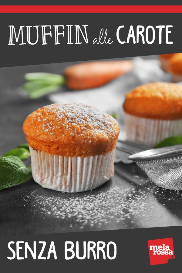 Muffin alle carote senza burro