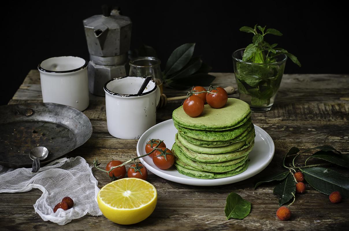 ricette colazione pancakes spinaci