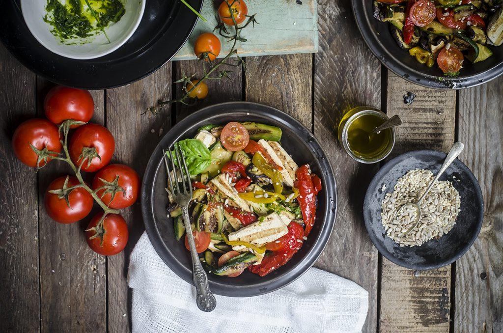 ricette con le vitamine B: insalata di tofu