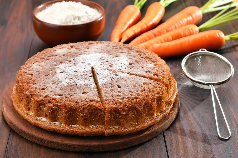 ricette con le vitamine B: torta di carote e mandorle