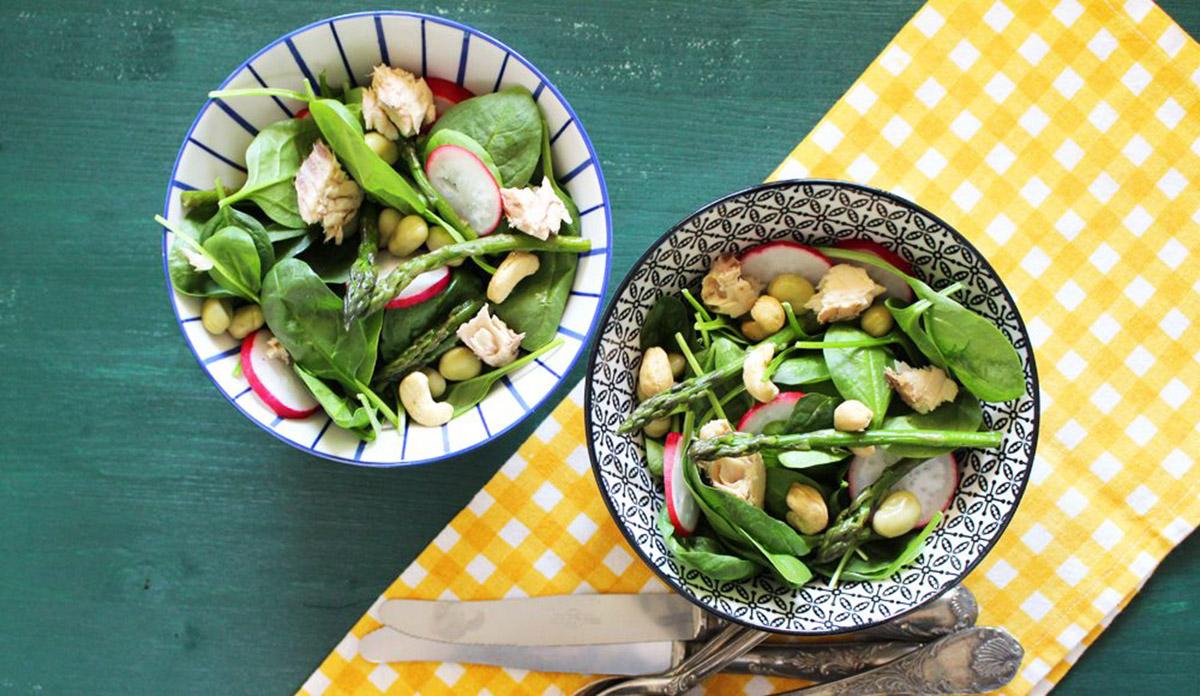 ricette con le vitamine del gruppo B: insalata di spinaci
