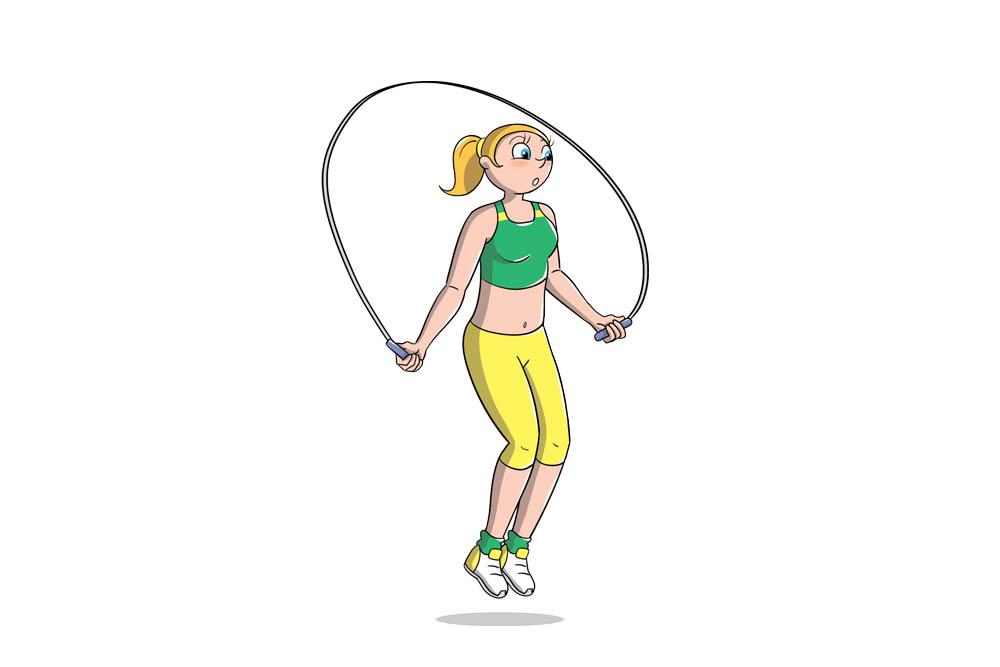 saltare la corda: circuito per dimagrire