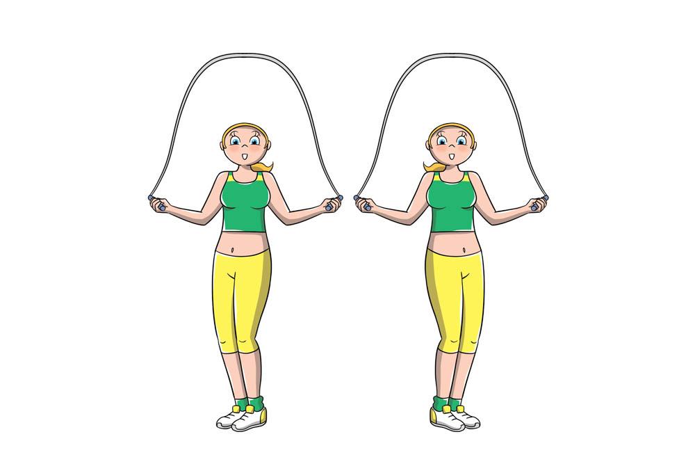 saltare la corda:  tecnica full twister
