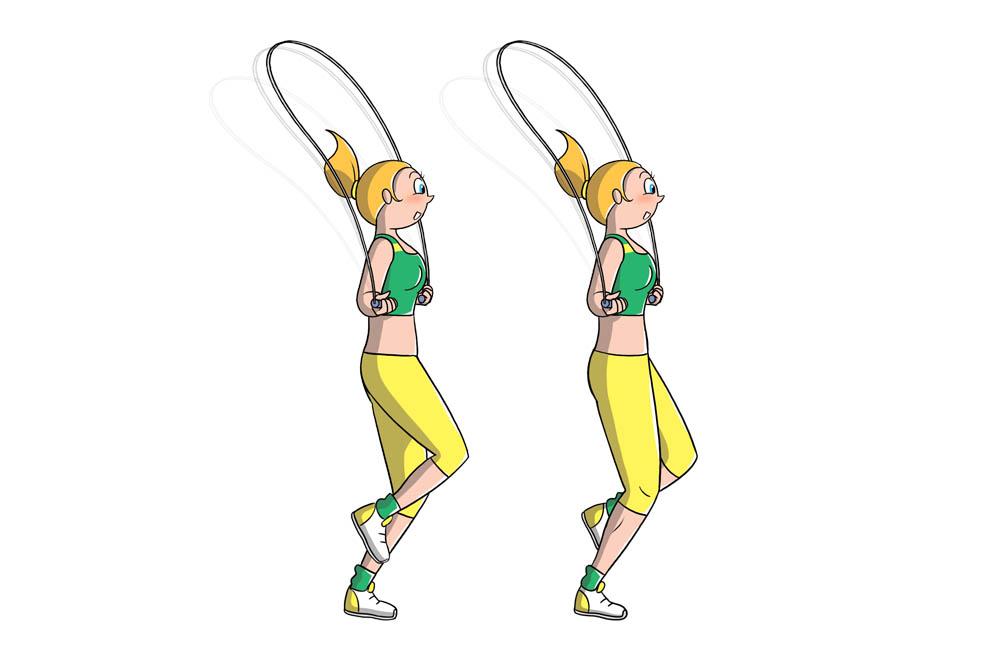saltare la corda: tecnica