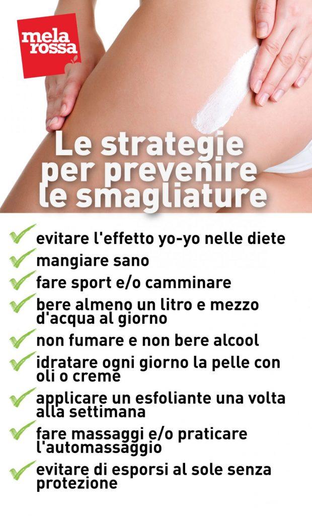 smagliature: prevenzione