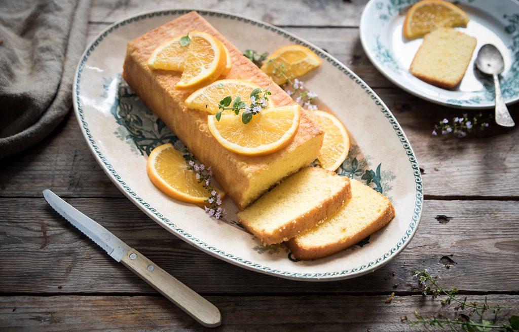 stanchezza primaverile: plumcake all'arancia