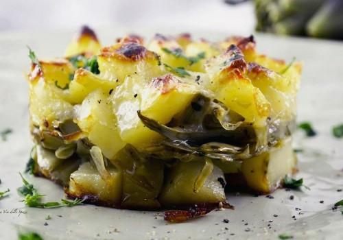 tortino patate carciofi