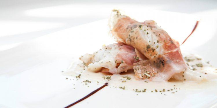 saltimbocca di rana pescatrice con Prosciutto di Modena Dop