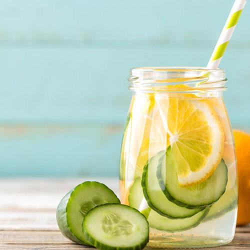 acqua aromatizzata limone cetriolo