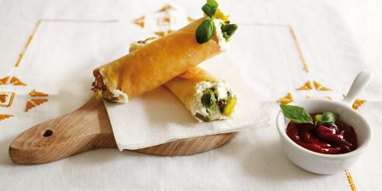 cannoli di parmigiano ripieni senza glutine asparagi