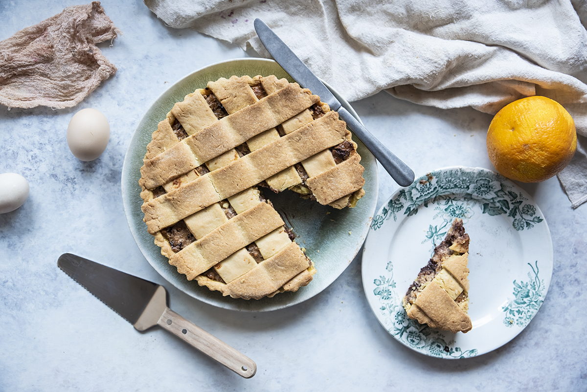 Crostata ricotta e cioccolata