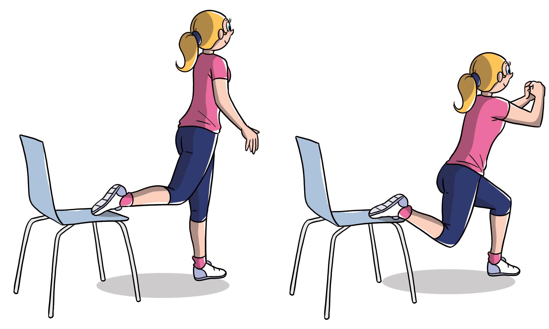 esercizio anticellulite efficace: affondo bulgaro