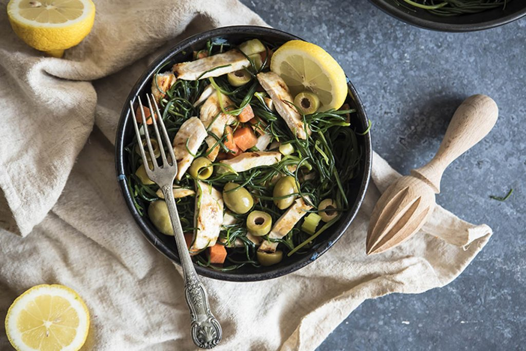 ricette con agretti insalata di pollo con agretti