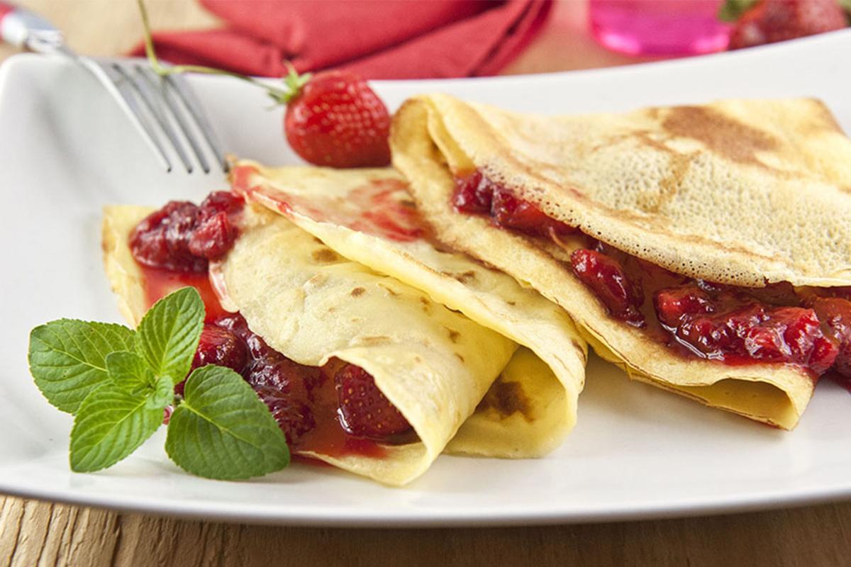 Ricette con le fragole: crepes con le fragole
