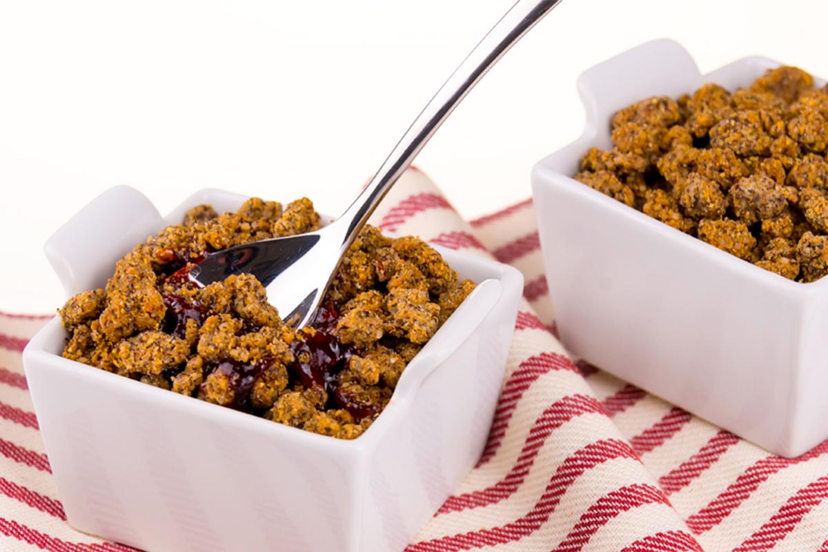 Ricette con le fragole: crumble di fragole senza glutine