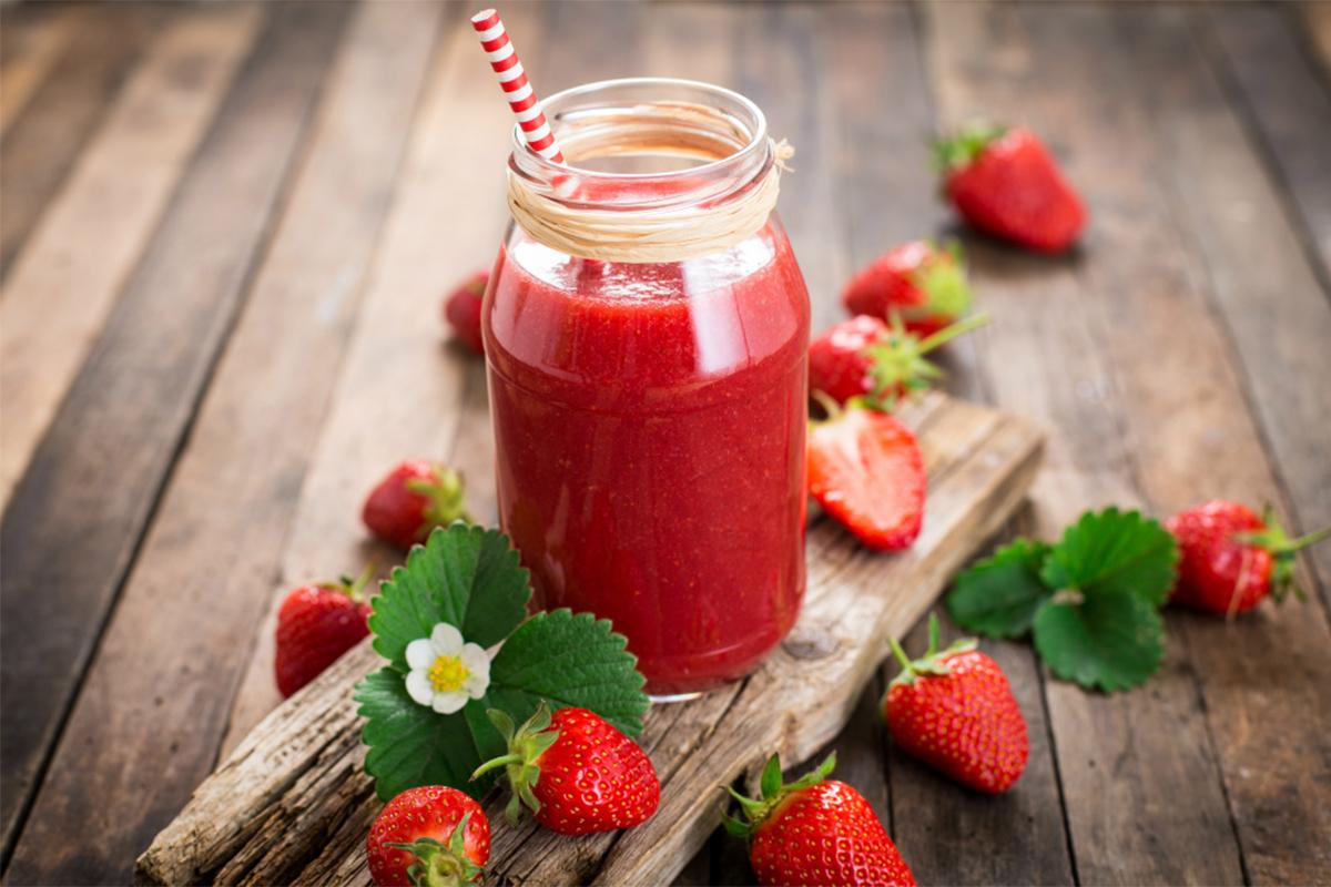 Ricette con le fragole: frullato fragole e lamponi