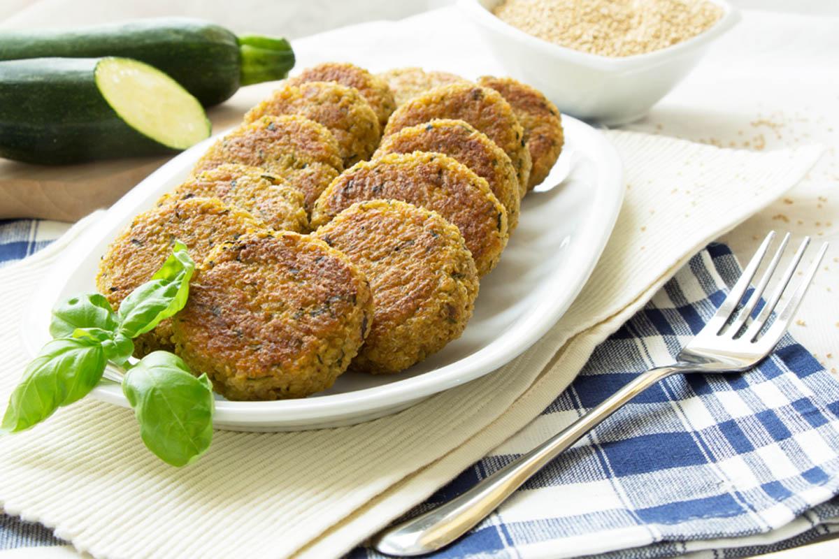 ricette con zucchine polpette di quinoa e zucchine