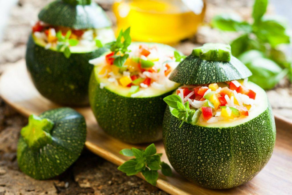 ricette con zucchine, zucchine ripiene al forno
