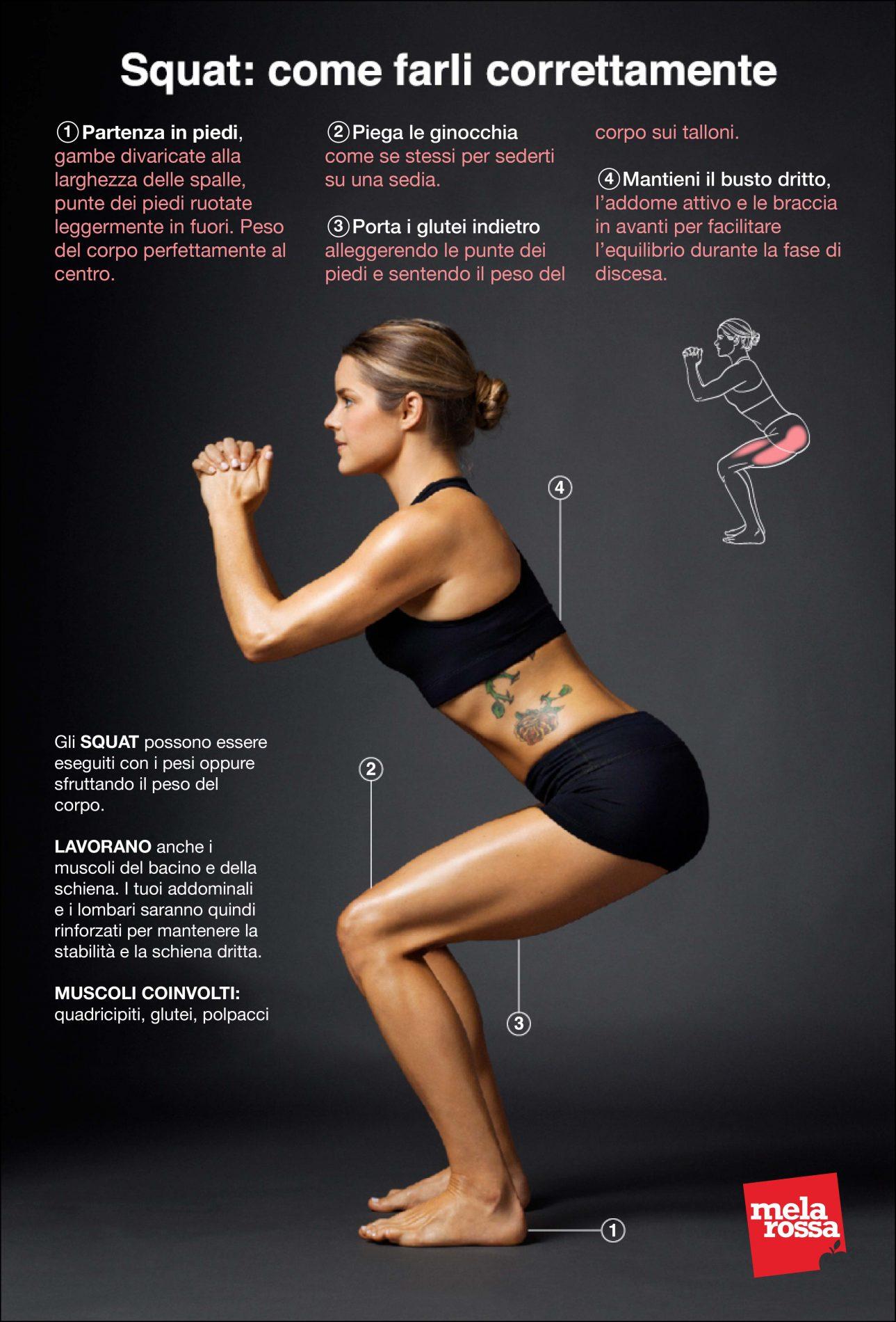 l'ultima tendenza fitness per tonificare glutei e gambe che sta spopolando sui social è il 30 days challenge squat! - Melarossa #dietamelarossa