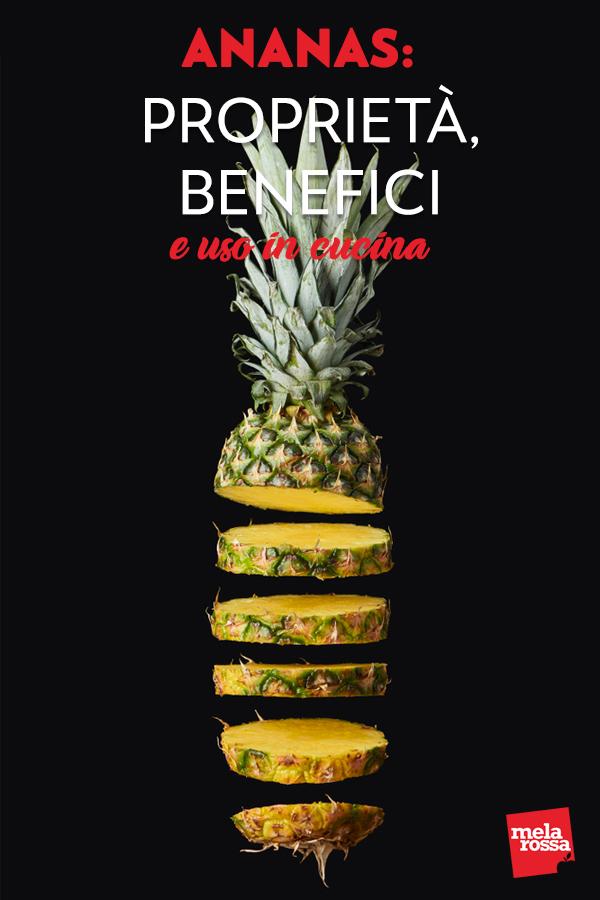 Sotto la scorza dura e un po' pungente, l'ananas nasconde un tesoro di bontà e di nutrienti preziosi. Fresco e dissetante, ha moltissime proprietà salutari e si presta a moltissimi utilizzi in cucina. Melarossa.it #dietamelarossa