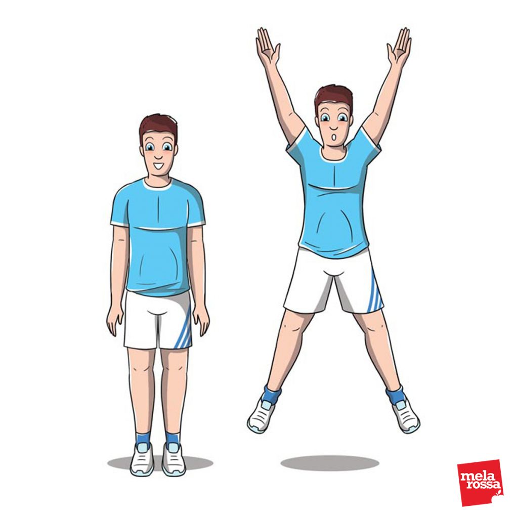 bruciare calorie : esercizio jumping jack