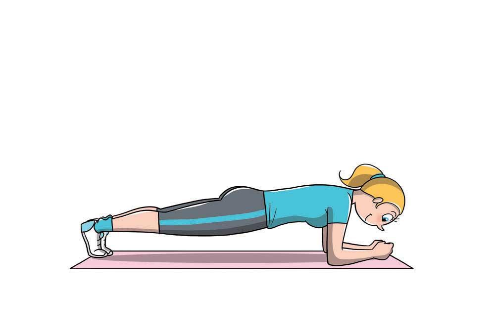 diastasi addominale: plank