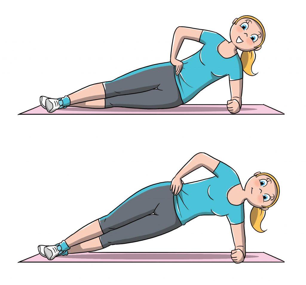 diastasi addominale: prevenzione side plank
