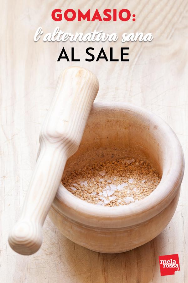 Sei alla ricerca di un'alternativa sana al sale? Ecco per te il gomasio, un condimento che deriva dal sale. Un alimento perfetto per chi deve ridurre il sodio, ma anche per chi vuole seguire un'alimentazione disintossicante. Melarossa.it #dietamelarossa