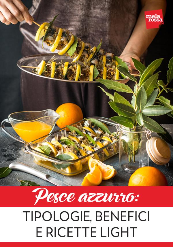 Il pesce azzurro non dovrebbe mai mancare sulla tua tavola: è facile da digerire e ricco di grassi buoni, vitamine e sali minerali. Melarossa.it #dietamelarossa