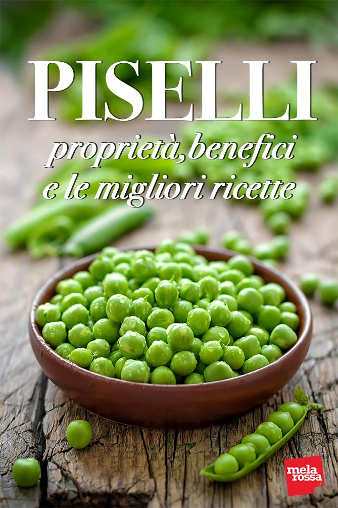 piselli proprietà benefici ricette