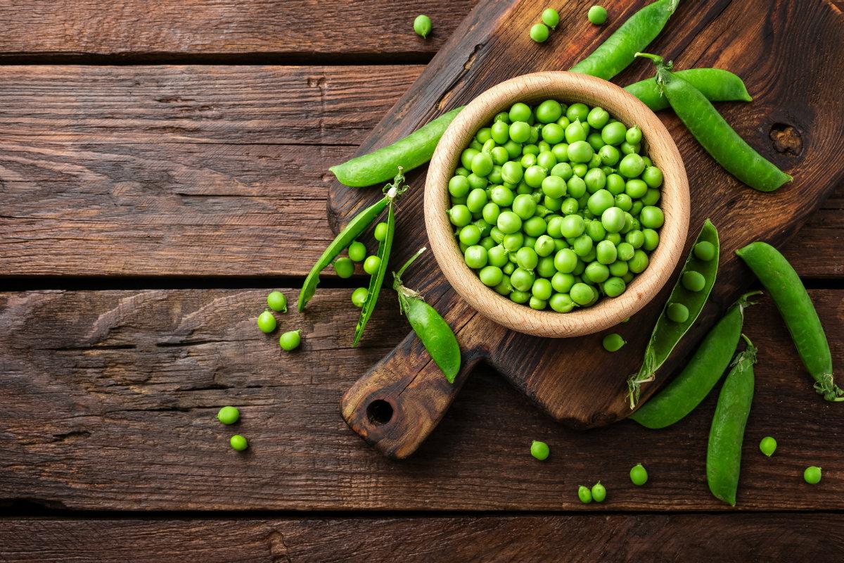 piselli, proprietà, benefici e ricette
