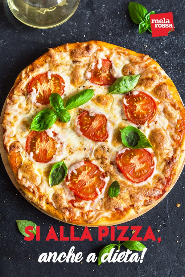 Si può mangiare la pizza a dieta? Questa è la domanda che sicuramente ti sei posto se hai iniziato una dieta ipocalorica. Melarossa.it #dietamelarossa