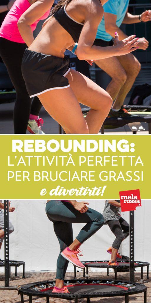 Rebounding: un modo divertente per bruciare le calorie! Sembra un gioco: si saltella su un tappeto elastico (rebounder), su e giù, senza fermarsi, a ritmo di musica. Il rebounding, chiamato anche jump fitness, è un vero e proprio sport dai mille benefici. Melarossa.it #dietamelarossa