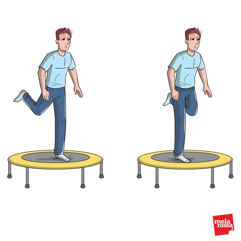 rebounding: esercizi da fare a casa col tappeto elastico