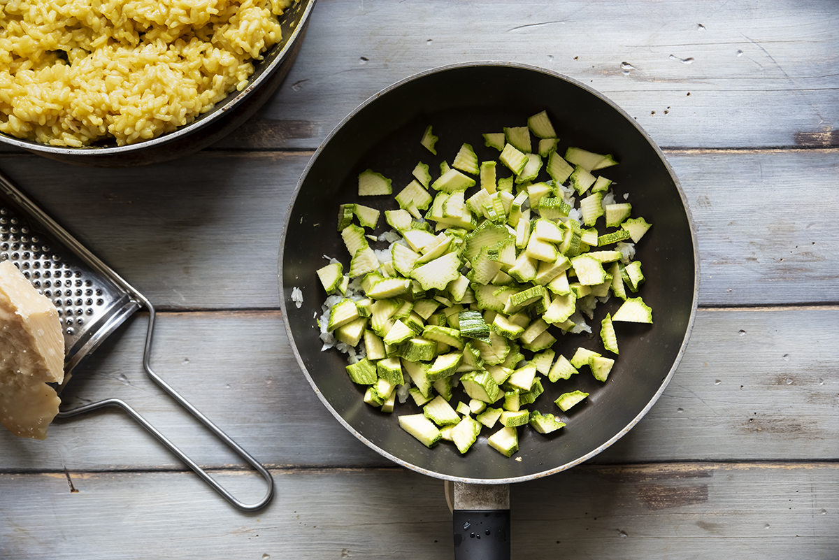 torta di riso gratinata zucchine e cipolla