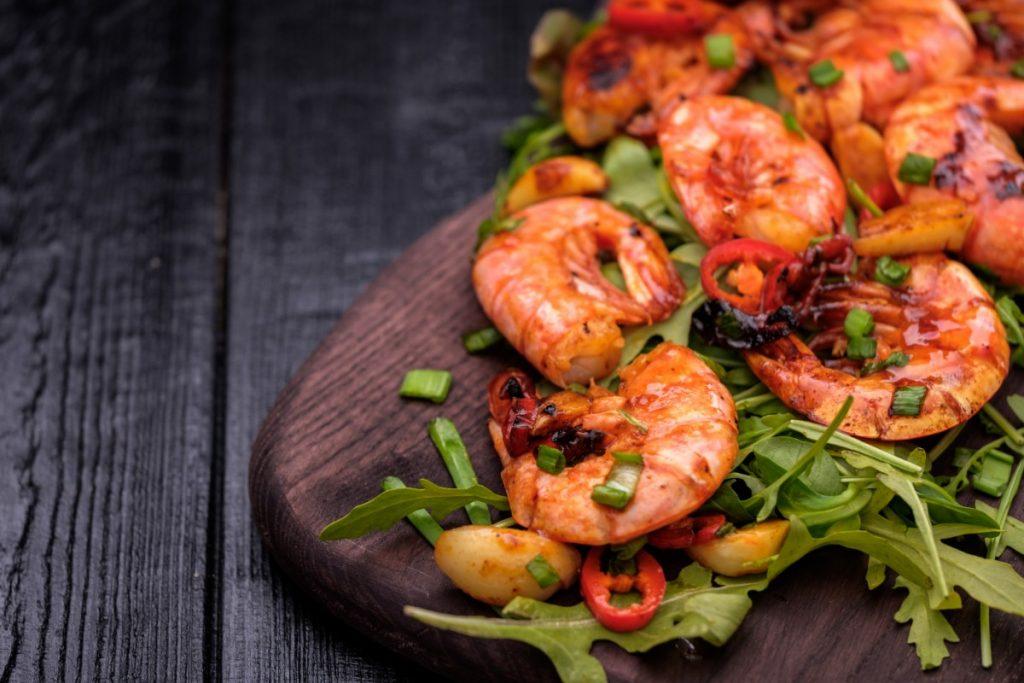 alimenti con meno di 120 calorie: gamberi