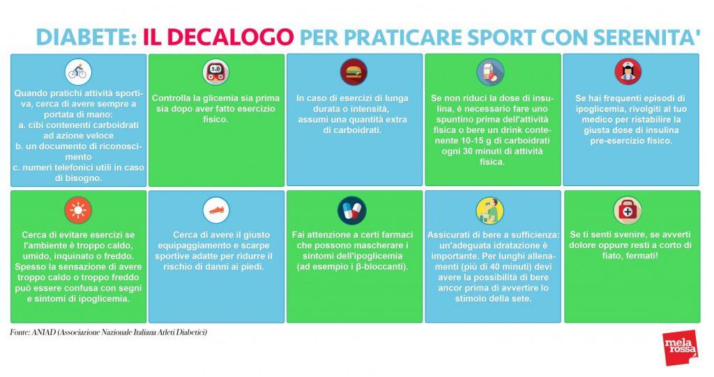 attività fisica e diabete decalogo sport