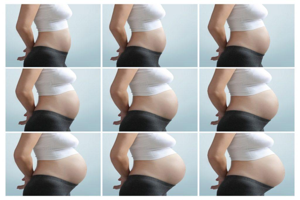 modifiche del corpo materno: aumento del peso e pancia che cresce
