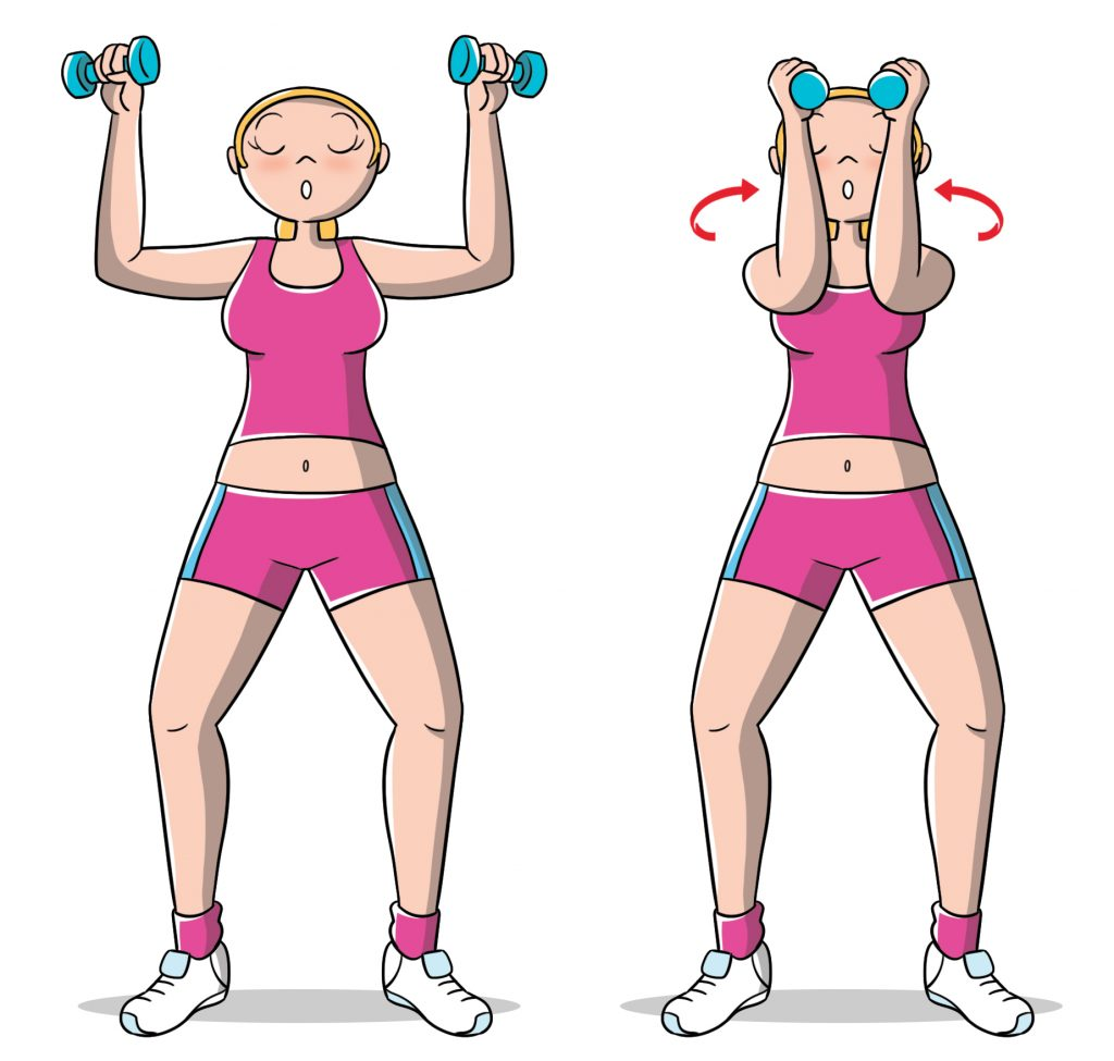 esercizi per le braccia: chest press