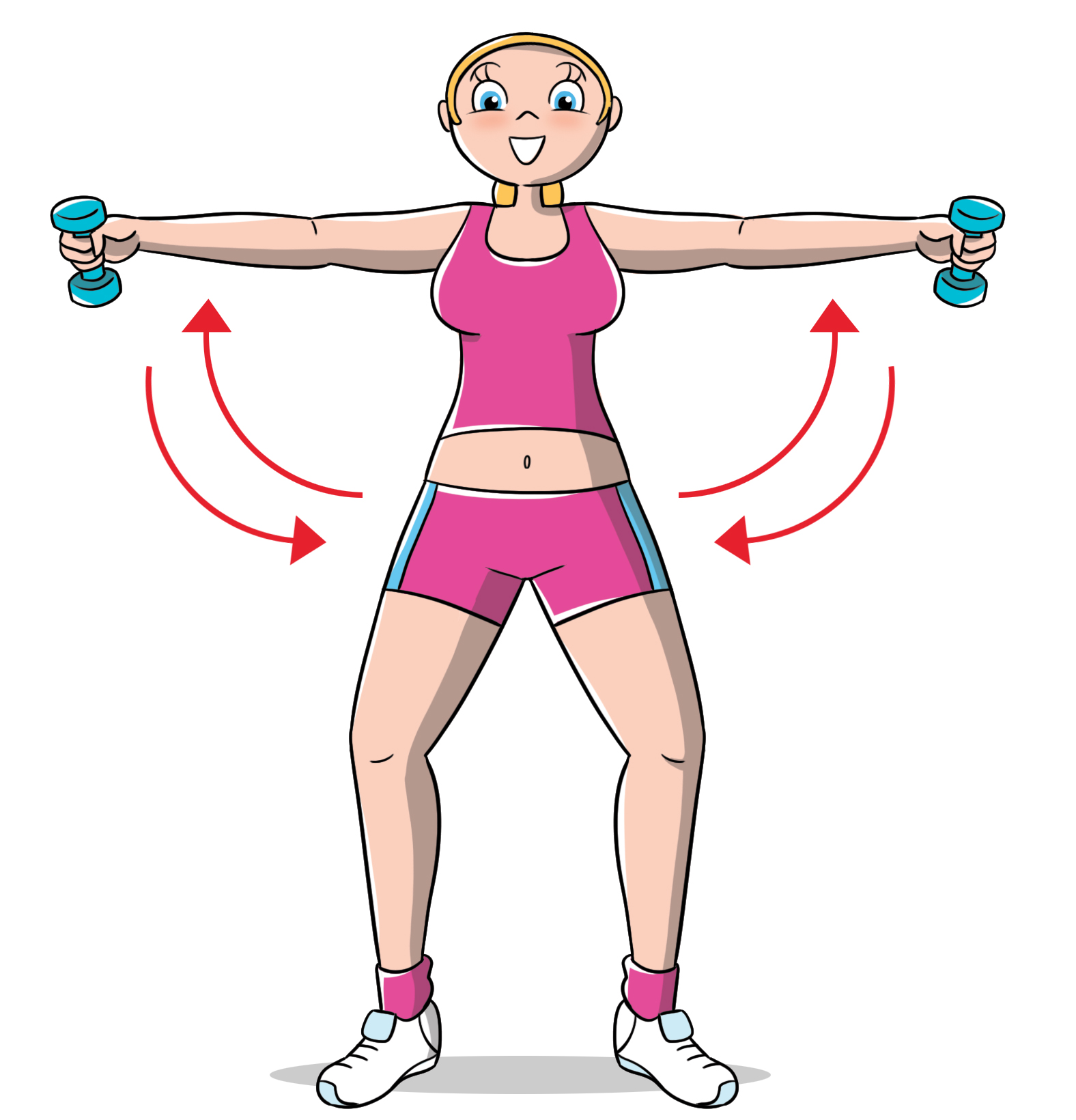 esercizi per le braccia: spalle