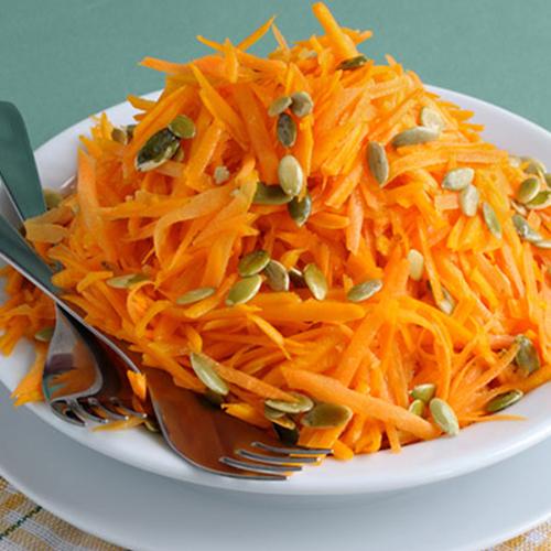 insalata di carote e semi di zucca
