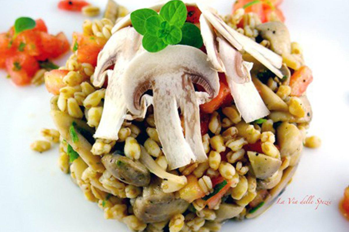 insalata di kamut e champignon