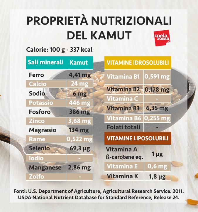 kamut valori nutrizionali