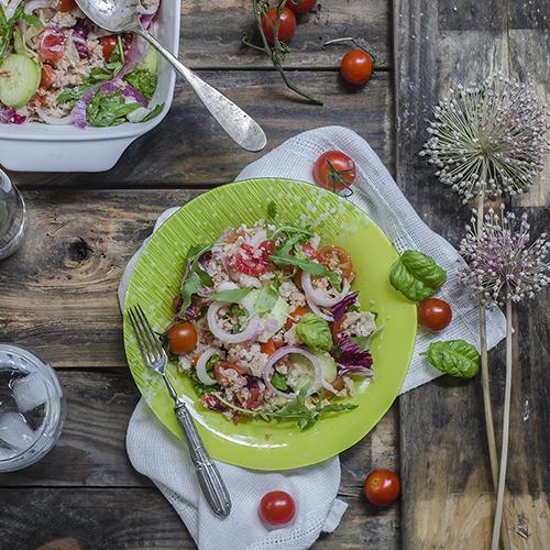 panzanella con verdure