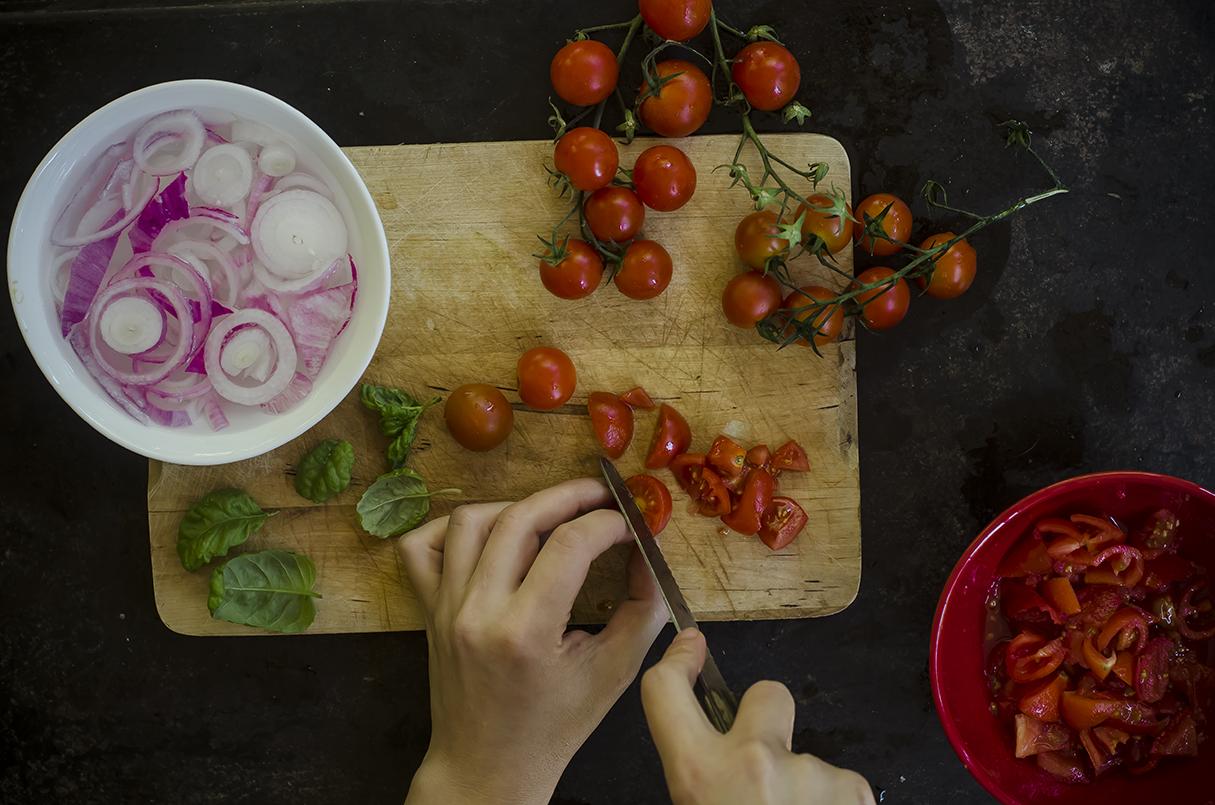 panzanella verdure pomodorini