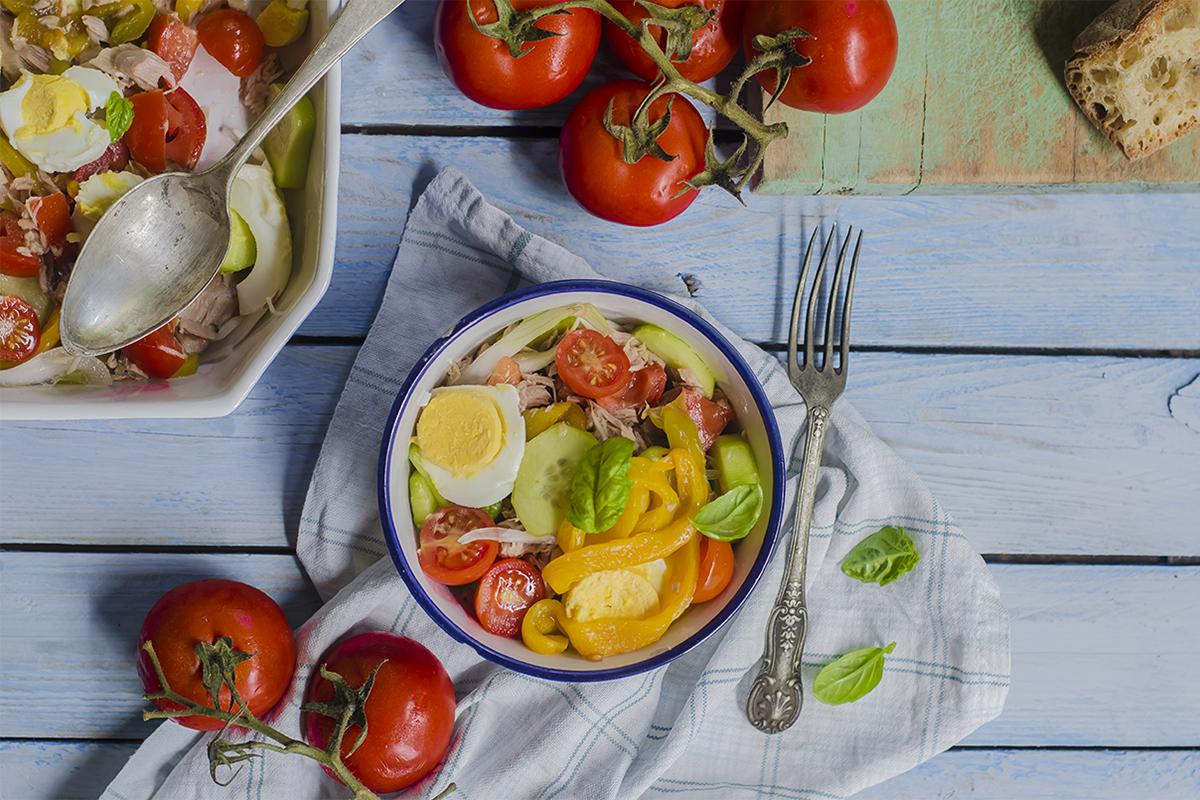 ricette con uova insalata nizzarda light