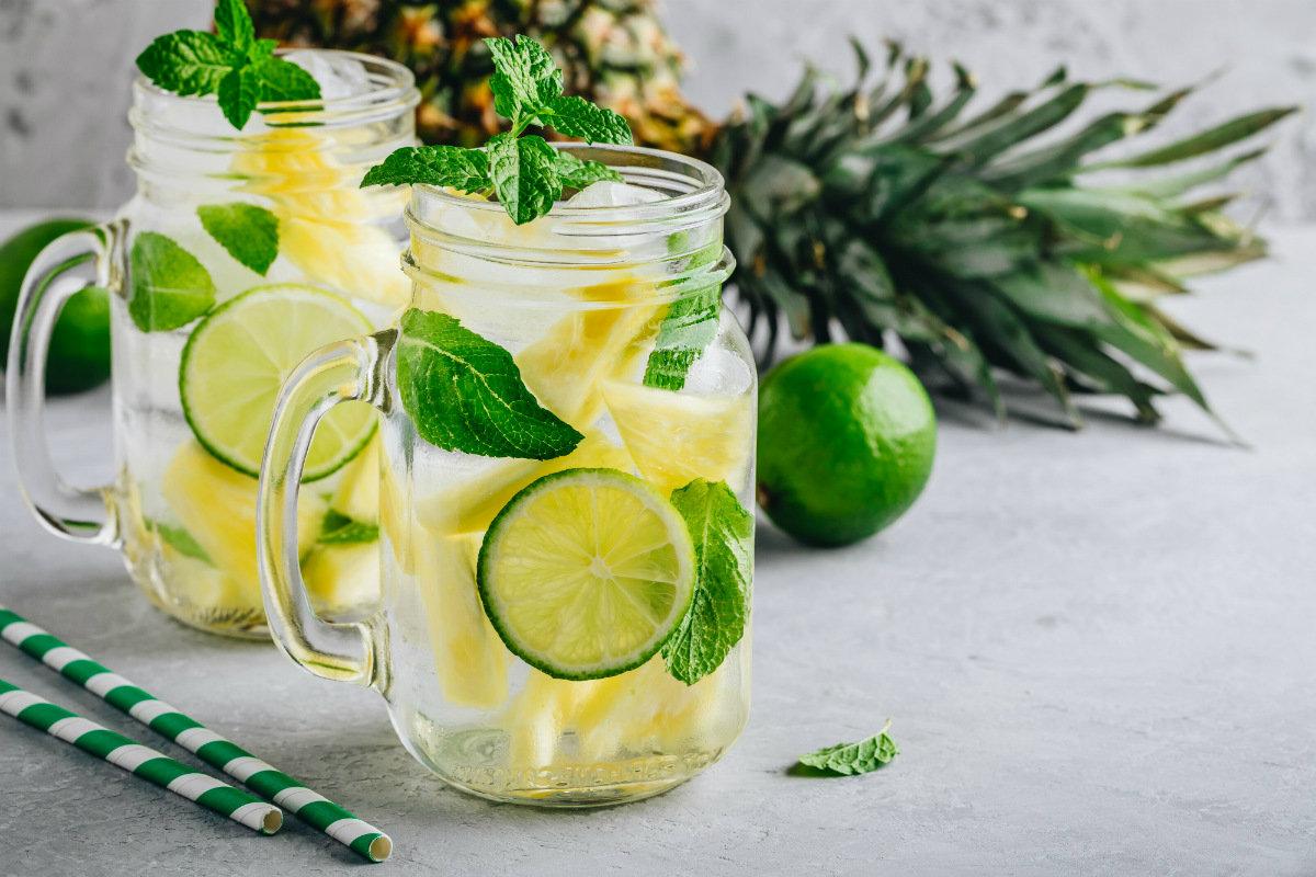 ricette detox, acqua detox ananas