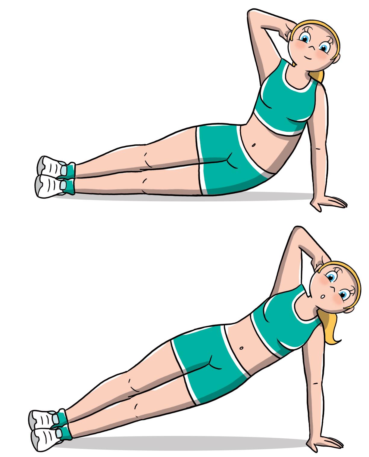 Snellire il girovita: side plank dinamico