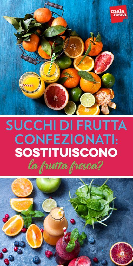 succhi di frutta confezionati: sostituiscono la frutta fresca?